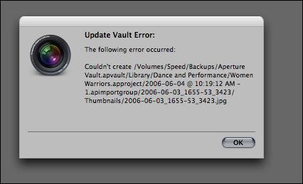 Aperture Vault Error