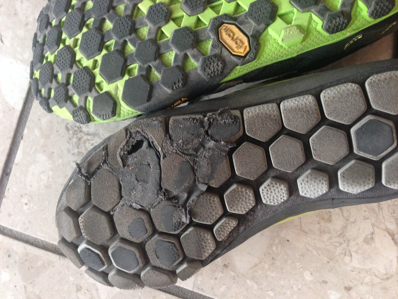 Wear on the New Balance Minimus Hi-Rez versus the 10v2 Trail Shoes