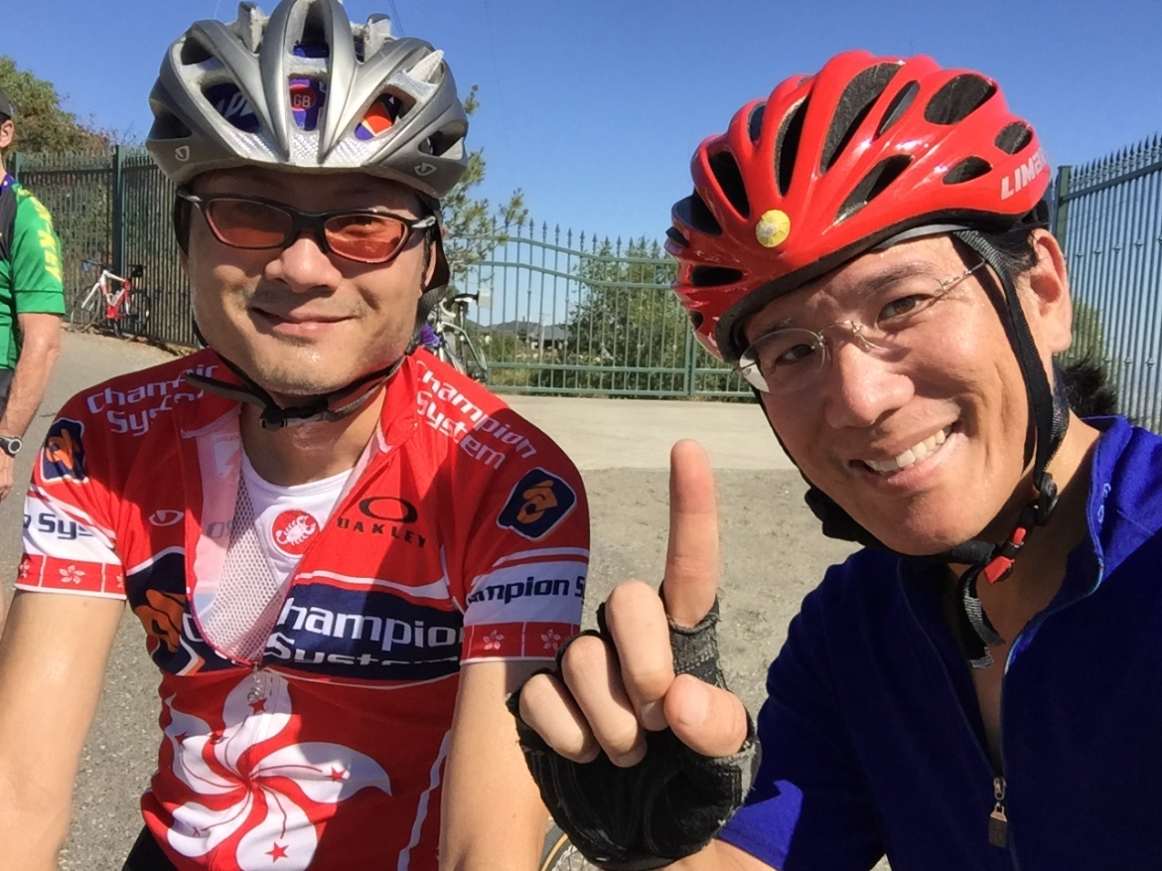 Stephen and Adam share a smile following our ascent of Montebello Road.
