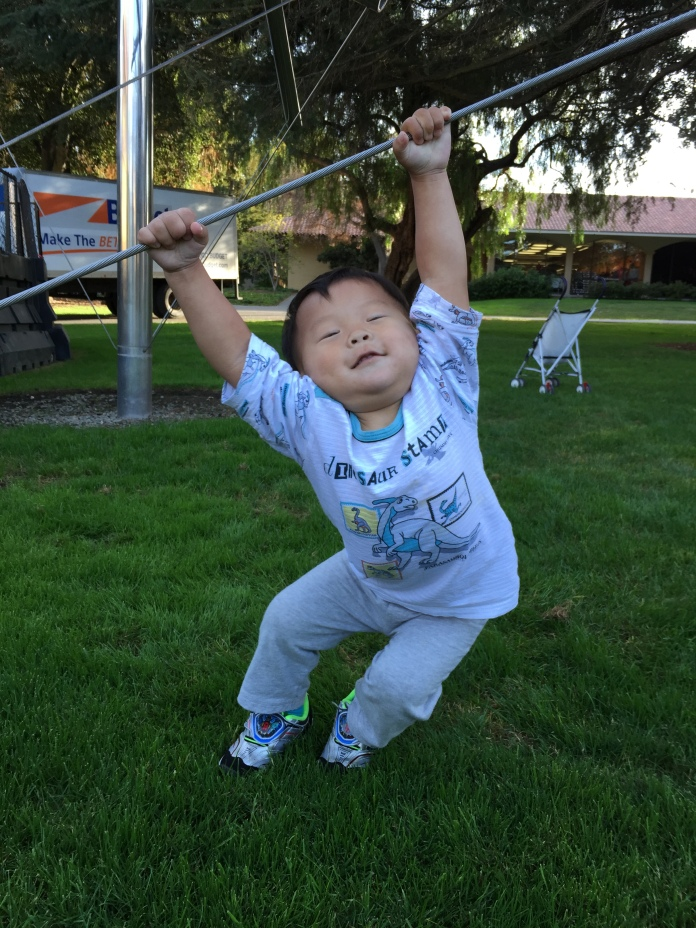 Our son wants to do pull-ups too!