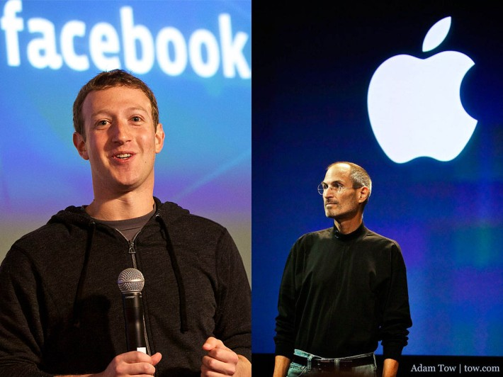 Mark Zuckerberg is known for his gray t-shirt and hoodie. The late Steve Jobs was known for his black mock turtleneck and blue jeans.
