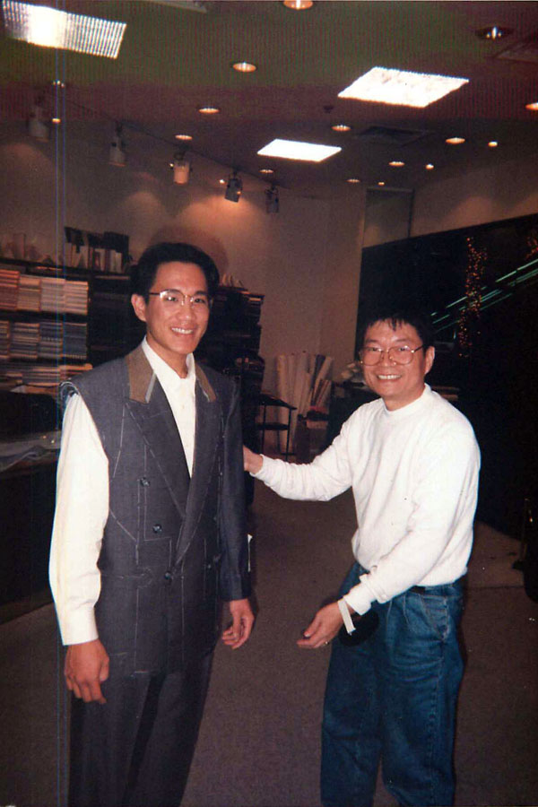 Getting my suit fitted and adjusted in Hong Kong circa 1994. After my weight loss, it fits again!