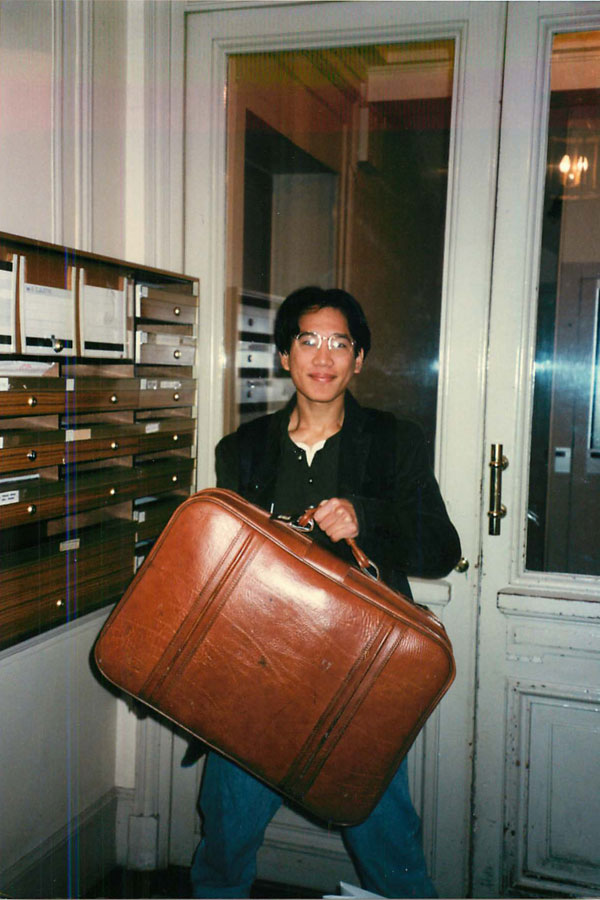 Just outside the frame of this photo were the other pieces of heavy and bulky luggage I was bringing back to the US. How I wish I had a uniform or a minimalist clothing and packing strategy when I was living in Paris in 1995!
