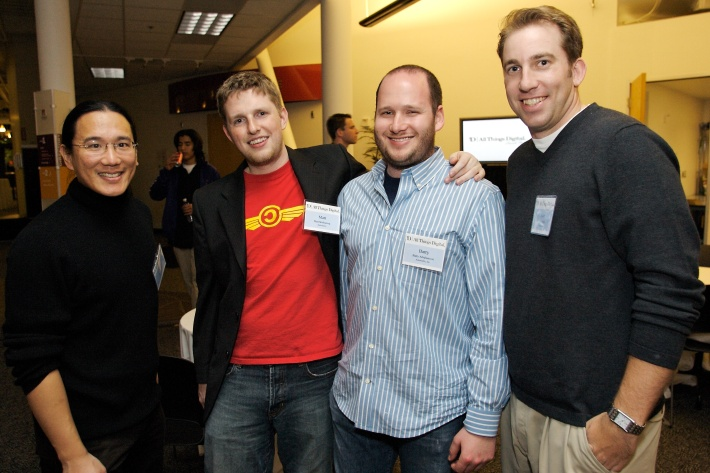 Alex with Matt Mullenweg, Barry Abrahamson, and me.
