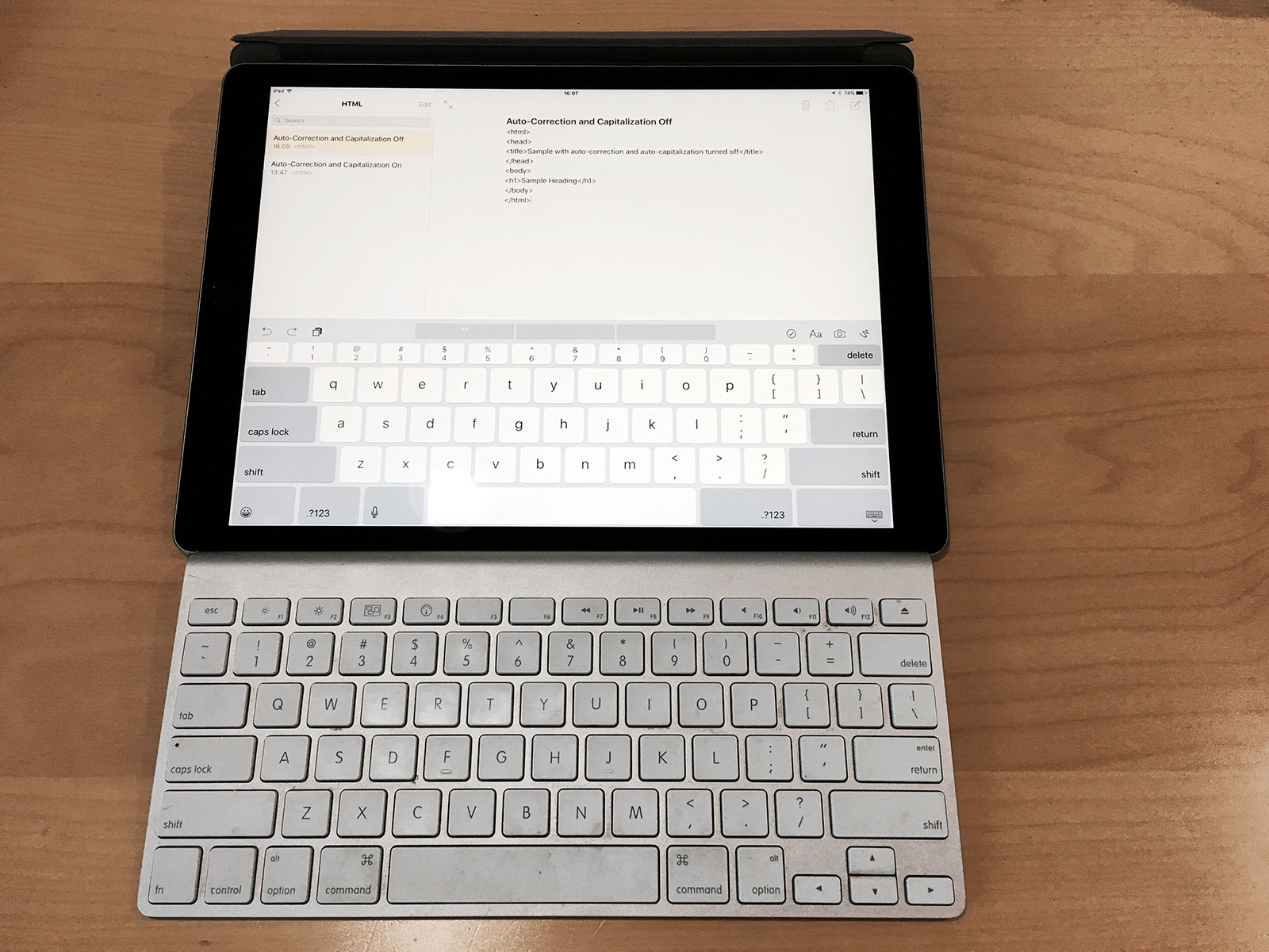 65a9e9c236b iPad Pro and Apple Wireless Keyboard Compared – tow.com