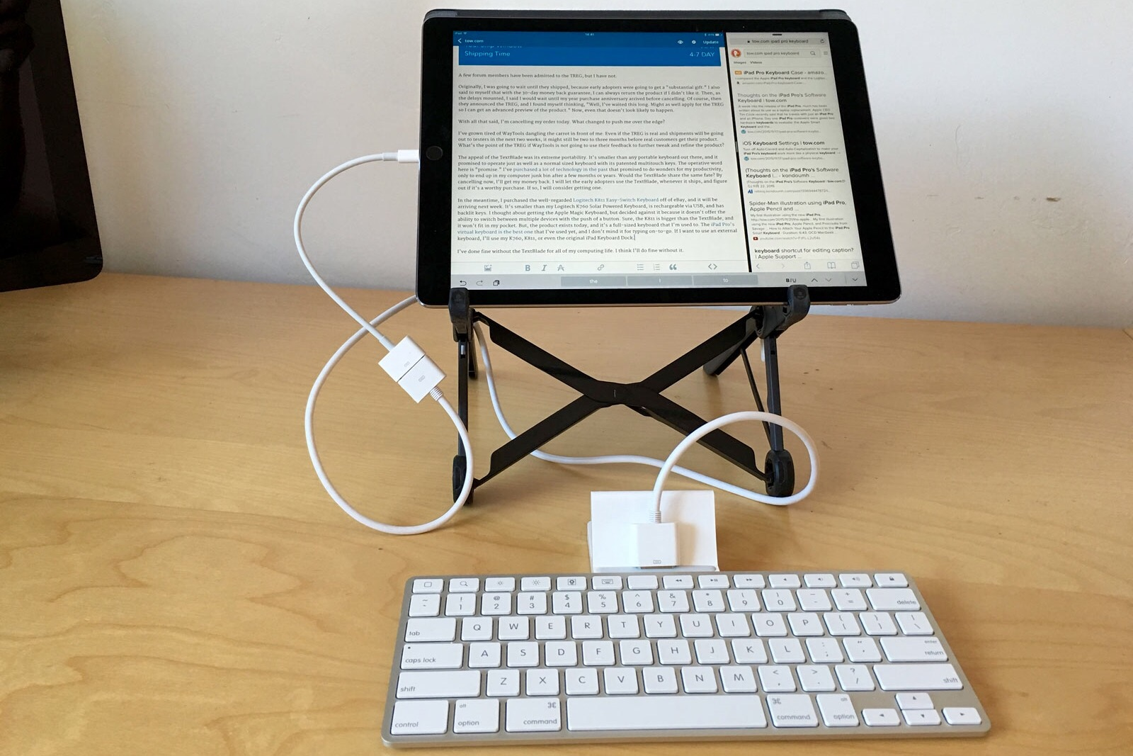 iPad Pro with iPad Keyboard Dock