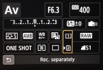 RAW files to go to the CF card. JPEG files go to the SD card. Playback is set to the SD card.