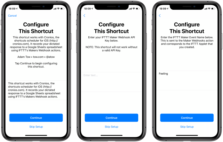 How Are You Feeling – A Shortcut Integrating Cronios, IFTTT, and